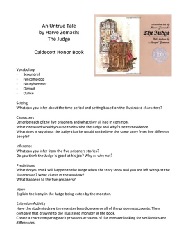The Judge by Harve Zemach - Teaching Literary Skills with