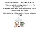 The Judicial Branch: An Overview - PowerPoint