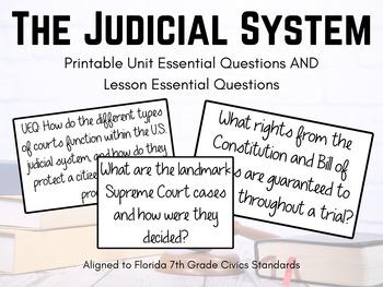 The Judicial System - UEQ and LEQs
