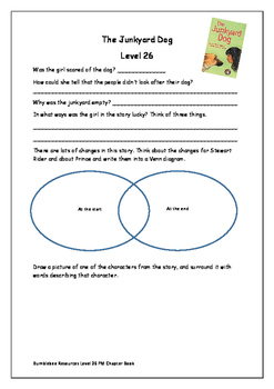 The Junkyard Dog Level 26 Activity Sheet