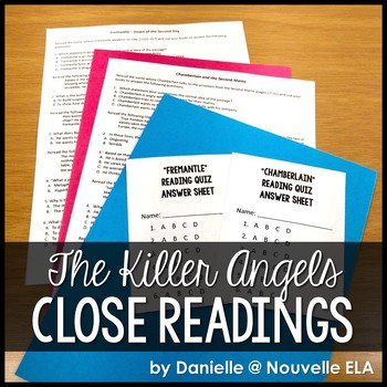 The Killer Angels - Reading Comprehension Bundle