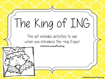 The King of ING Word Work & Craftivity
