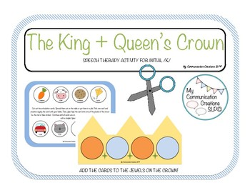 The King's Crown: Speech Therapy Cut + Paste Activity { In
