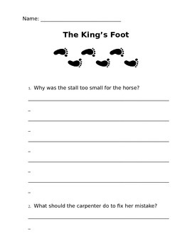The King's Foot