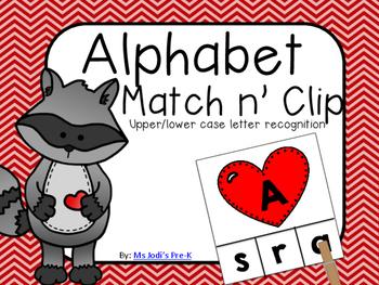 The Kissing Hand Alphabet Match n' Clip