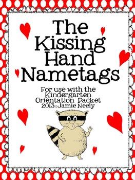 The Kissing Hand Nametags