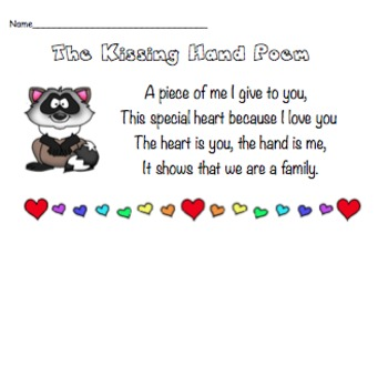 """""""The Kissing Hand"""" Poem"""