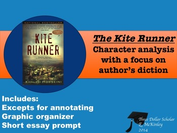 The Kite Runner-Character analysis focus author's diction,