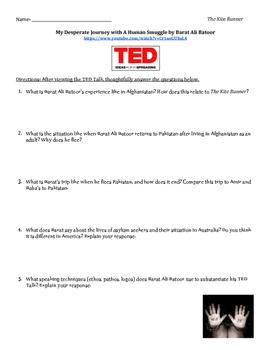The Kite Runner Lesson TED Talk