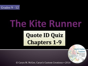 The Kite Runner Quiz Ch. 1-9
