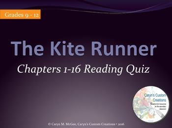 The Kite Runner Reading Quiz Ch. 1-16