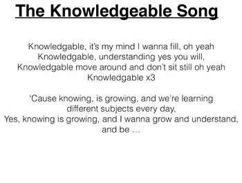 Knowledgeable Song