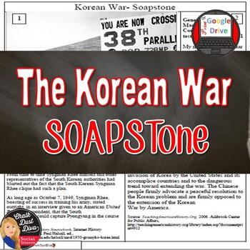 Cold War - The Korean War SOAPSTONE Primary Source Analysi