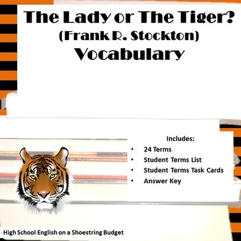 The Lady, or The Tiger? Vocabulary Activity (Frank Stockton)