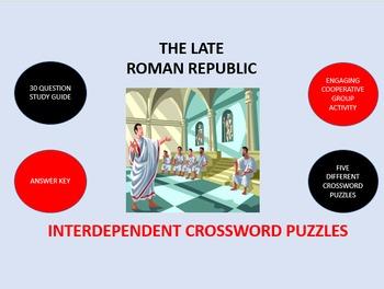 The Late Roman Republic:  Interdependent Crossword Puzzles