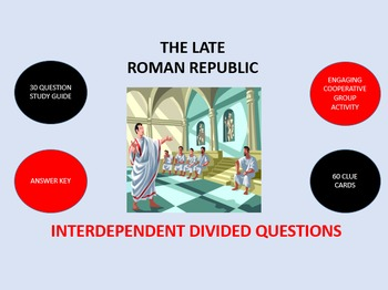 The Late Roman Republic:  Interdependent Divided Questions