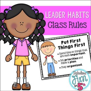 Leader Habits: Classroom Rules