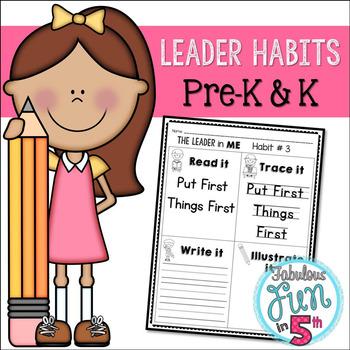Leader Habits: Pre-K & K Pages