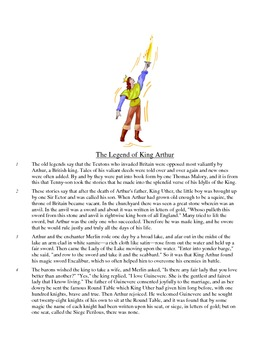 The Legend of King Arthur - Literary Text Test Prep