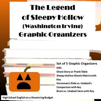 The Legend of Sleepy Hollow Graphic Organizers (Washington