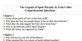 The Legend of Spud Murphy Comprehension Question