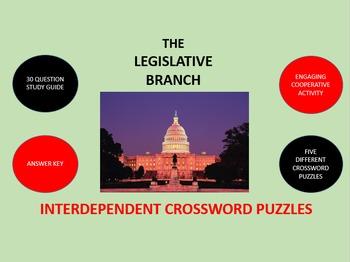 The Legislative Branch: Interdependent Crossword Puzzles