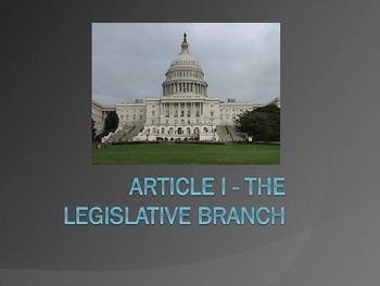 The Legislative Branch and Mini Book