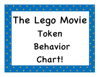 The Lego Movie Token Behavior Chart!