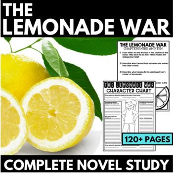 Lemonade War Novel Study Unit - Interactive Notebook Quest