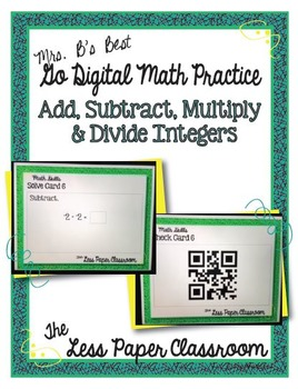 The Less Paper Classroom: Add, Subtract, Multiply & Divide