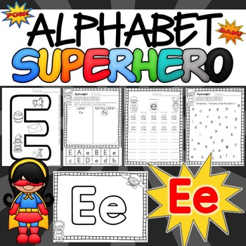 The Letter E Alphabet Superhero