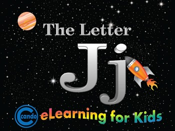 Phonics activity and learning game featuring the letter Jj