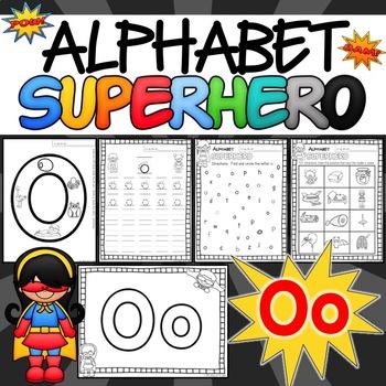 The Letter O Alphabet Superhero
