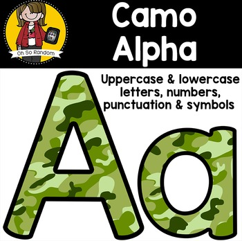 The Letter Series | Camouflage
