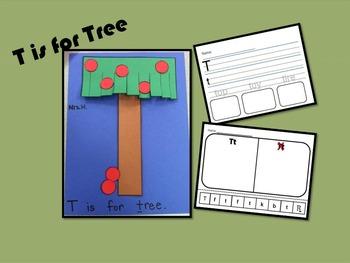 The Letter Tt- Craft & Worksheets!
