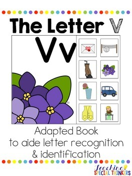 The Letter V Interactive Book