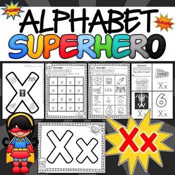 The Letter X Alphabet Superhero