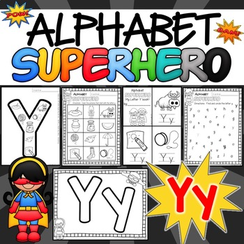 The Letter Y Alphabet Superhero