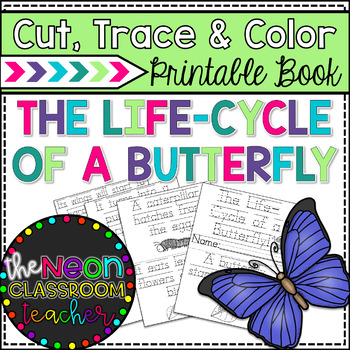 """The Life-Cycle of a Butterfly!"" Cut, Trace & Color Printa"