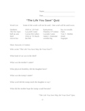"""The Life You Save May Be Your Own"" by O'Connor Quiz"