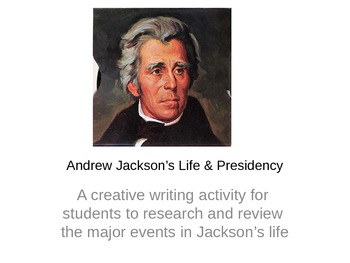 Life and Presidency of Andrew Jackson Children's Book