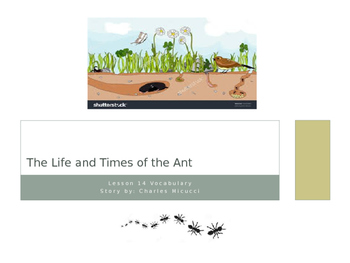 The Life and Times of the Ant ~ Journeys Vocabulary Lesson 14