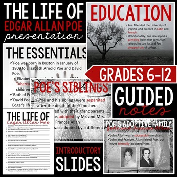The Life of Edgar Allan Poe: Introductory Presentation