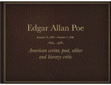 The Life of Edgar Allan Poe PowerPoint