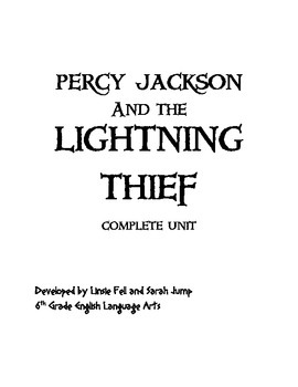 The Lightning Thief Complete Unit