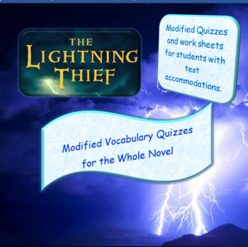 The Lightning Thief Modified Vocabulary Quizzes