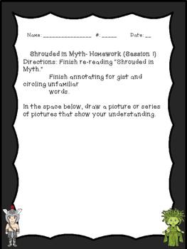 The Lightning Thief Module 1 Lesson 1 Homework