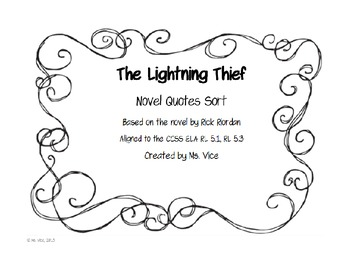 The Lightning Thief Quote Sort