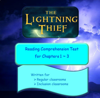 The Lightning Thief Reading Comprehension Test - Ch. 1 - 3