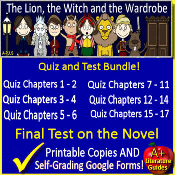 The Lion, The Witch and the Wardrobe Novel Study Test Bund